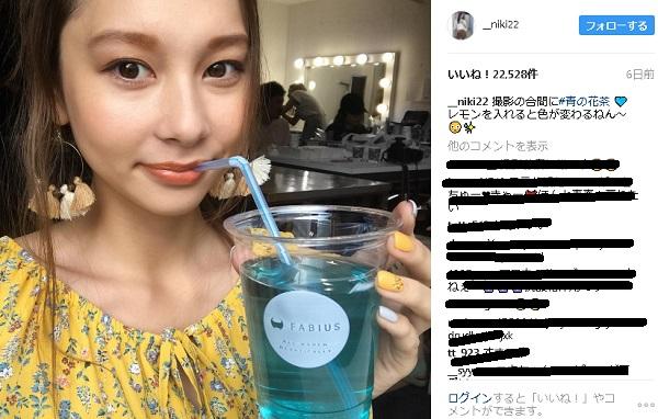 青の花茶 モデル Niki