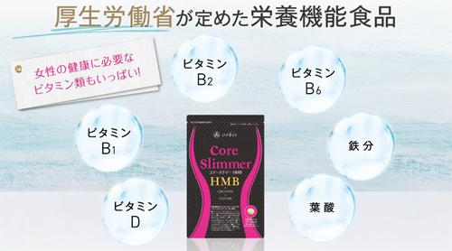 コアスリマーHMB栄養成分