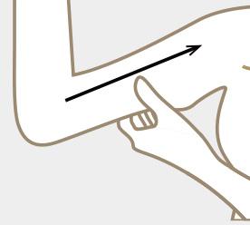ENDAボディサポートジェル二の腕
